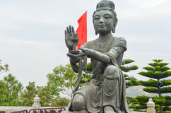 One of the Six Devas praising and making offerings to the Tian T. An Buddha Stock Photography