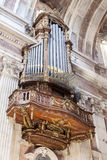 One of the six organs of the Basilica of the Mafra Palace Royalty Free Stock Photography