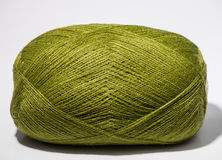 One skein of green yarn Stock Photography