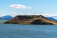 Skutustadagigar pseudo-craters in the lake Myvatn area - Iceland stock photo