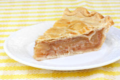 One slice of apple cinnamon pie Royalty Free Stock Images