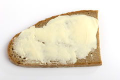 One slice of bread with butter Stock Photography