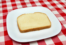 One slice of bread - making a blt Royalty Free Stock Photo