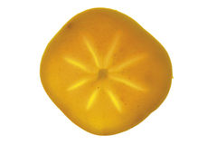 One slice of kaki fruit Royalty Free Stock Photos