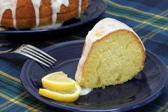 Lemon Pound Cake Slice Royalty Free Stock Images