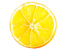 One slice of orange, close up. Stock Images