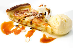 One slice of pie dessert Stock Photo