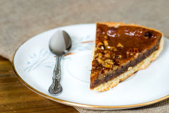 One slice of pie dessert Stock Image
