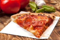 One slice of pizza. Stock Image