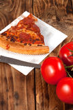 One slice of pizza. Royalty Free Stock Image