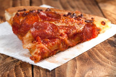 One slice of pizza. Stock Photos