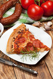 One slice of pizza. Royalty Free Stock Photos