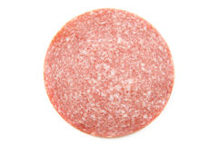 One slice of salami Stock Photography