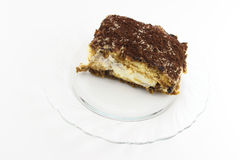 One slice tiramisu Stock Images