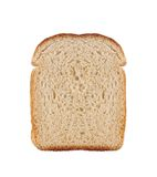 One slice of wheat bread isolated Royalty Free Stock Photos