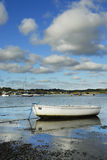 One Small Boat, Padstow Harbour, UK. Stock Image