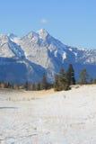 One small cloud, canadian rockies. Jasper national park, alberta, canada, good sunny weather Stock Image