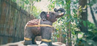 Small elephant statue. One small elephant statue stock images