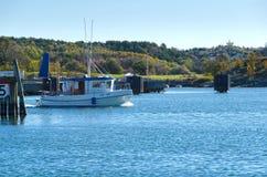 One small fishingboat on the swedish westcoast Stock Images