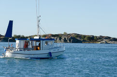 One small fishingboat on the swedish westcoast Stock Photography
