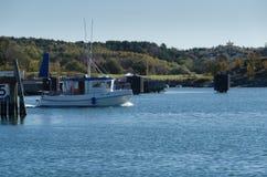 One small fishingboat on the swedish westcoast Royalty Free Stock Photography