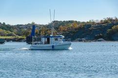 One small fishingboat on the swedish westcoast Stock Photos
