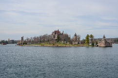 One small Island and beach castle on St Lawrence river Stock Photography