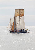 One small, old sailing ship Stock Photos