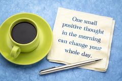 One small positive thought can change royalty free stock image