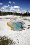 One small spring of Midway Geyser Basin Stock Photography