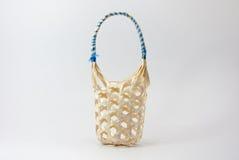 One small wicker basket detail handmade Stock Image