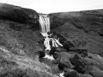 A waterfall in Iceland. One of the smaller waterfalls in Iceland Royalty Free Stock Photos