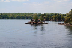 One of the smallest from Thousand Islands on St. Lawrence River Royalty Free Stock Image