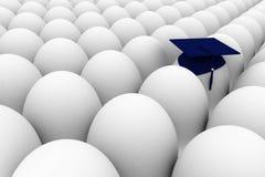 One smart egg. Among many others Stock Illustration
