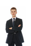 One smiling successfull businessman standing Stock Image