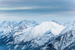 One smooth snowy mountain Royalty Free Stock Image