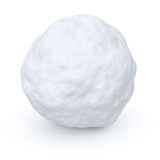 One snowball. On white background Stock Photo