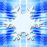 One Snowflake on Blue Background Stock Photos