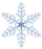 One snowflake on a white background Stock Photography