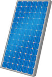 One solar panel. Isolated on the white background vector illustration