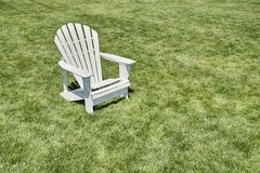 One Adirondack Chair Royalty Free Stock Photo