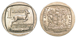 One south african rand coin Royalty Free Stock Images