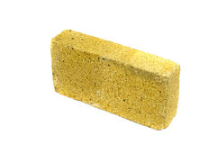 One special brick for furnace fireplace isolated Royalty Free Stock Image
