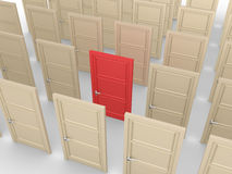 One special door out of many Royalty Free Stock Photo