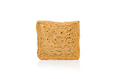 One square bread sliced isolated on white Royalty Free Stock Image