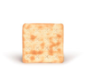 One square crackers with salt Royalty Free Stock Image