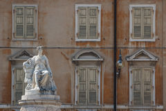 One of the squares in the historic center of Udine. Italy Royalty Free Stock Photo
