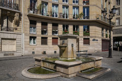 One the squares in Paris, France. Typical square in the center of Paris Stock Image