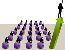 One stands above the rest stock illustration