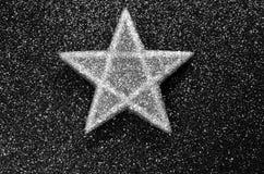 One star dark background Royalty Free Stock Image